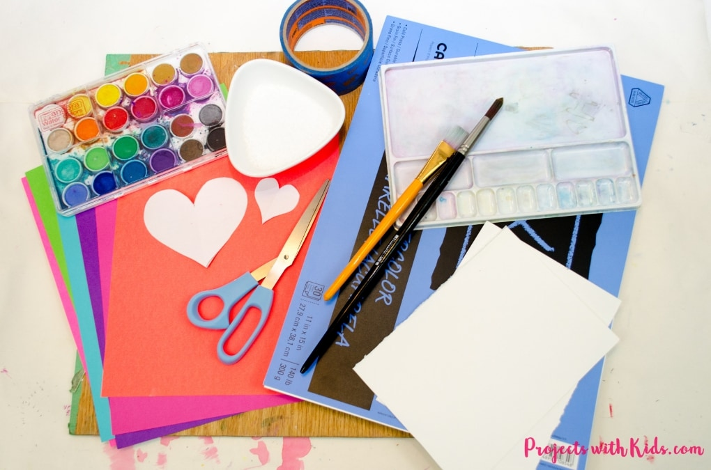 Kids will love using watercolors and paper to create this beautiful heart art project that is perfect for Valentine's Day and Mother's Day. Easy watercolor techniques makes this a perfect art project for kids of all ages.