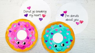 Donut Cards for Valentine's Day with Free Printable