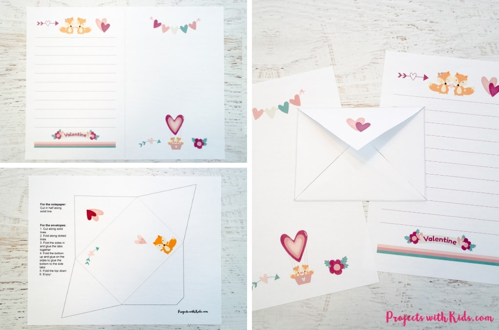 These printable Valentine stationary sets are so cute! Kids will love writing and drawing special Valentine notes for their friends, family and teachers.