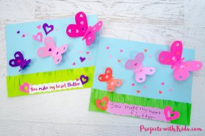 Make a beautiful 3D butterfly paper craft that is perfect for Valentine's Day, Mother's Day and spring. A great craft to work on scissor skills. Free templates included.