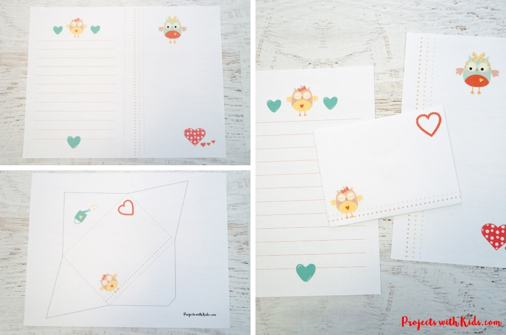 graphic regarding Printable Stationary for Kids titled Lovely Printable Valentine Stationery Initiatives with Young children