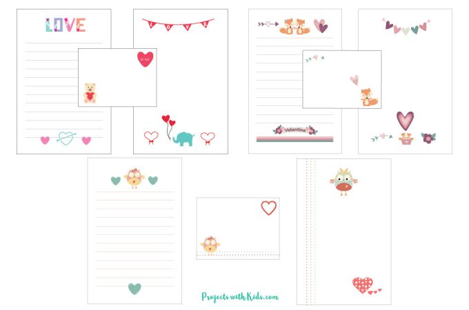These printable Valentine stationery sets are so cute! Kids will love writing and drawing special Valentine notes for their friends, family and teachers.