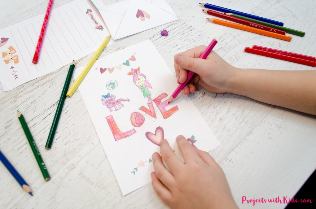 image relating to Printable Stationary for Kids named Cute Printable Valentine Stationery Initiatives with Children
