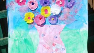 Kids Crafts: Flower Collage - Red Ted Art's Blog