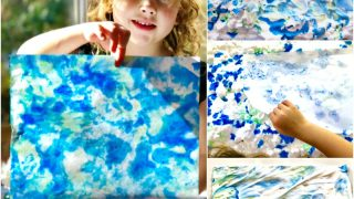 Epic Earth Day Art Activities - Shaving Cream Marbled Paper