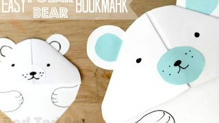 Polar Bear Bookmark Corner - Red Ted Art's Blog