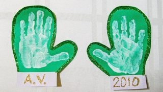 Sparkly Handprint Mittens Craft - Easy Winter Craft For Kids!