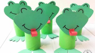 Super Cute Toilet Tube Frog Craft For Kids