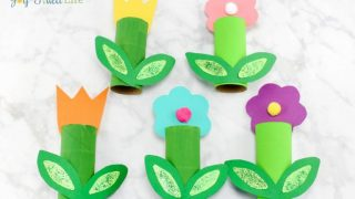 Simple Cardboard Tube Flower Craft
