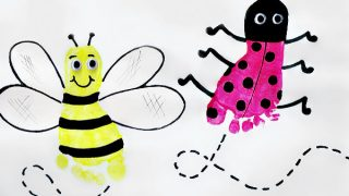 Ladybug Footprint and Bee Craft | Ladybug Girl and Bumblebee Boy Book