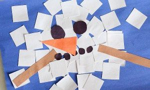 Melted Snowman Shape Craft Collage