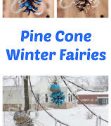 How to Make Beautiful Winter Fairies from Pine Cones