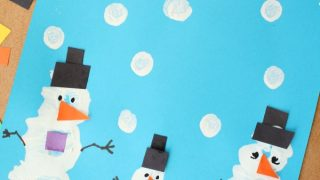 Pom Pom Painted Snowman Craft
