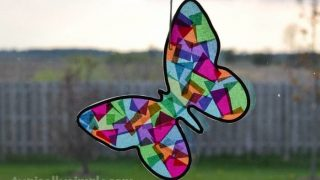 Stained Glass Butterfly Craft