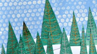 Newspaper Winter Landscape Art Project | I Heart Crafty Things