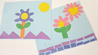 Preschool Art Activity with Paper Shapes