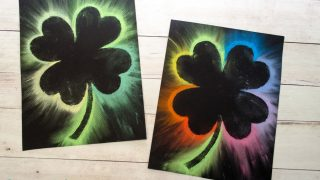 Make Brightly Colored Shamrock Art with Chalk Pastels