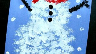 Snowman Pom Pom Painting Craft
