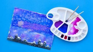 Snowy Town: Easy Watercolour Painting Project