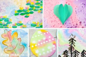 Totally awesome watercolor painting for kids. Watercolor ideas that kids of all ages will love to explore and create.
