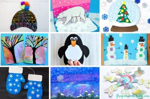 This amazing collection of over 65 winter arts and crafts will inspire you and your kids to create some beautiful winter projects. #artsandcrafts #wintercrafts #kidsactivities #projectswithkids