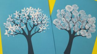 Winter Tree Painting Ideas for Kids