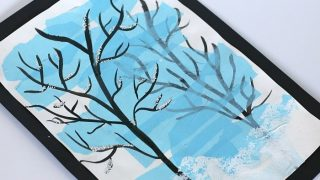 Silhouette Winter Tree Art Project for Kids!