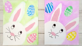 The Cutest Easter Bunny Painting for Kids to Make