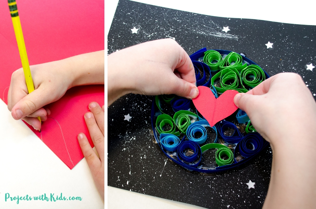 Kids will love to create this gorgeous earth day craft using simple quilling techniques with no special tools required.