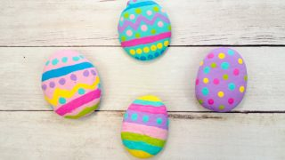 Easy Painted Easter Egg Rocks for Kids