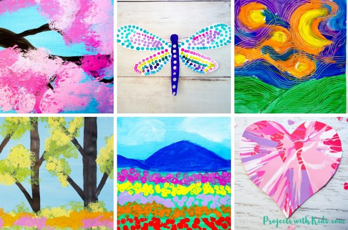 Awesome painting ideas for kids of all ages! Click to find fun and unique painting techniques for holidays, seasons or any time that kids will love!