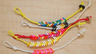 Melted Perler bead braided bracelet