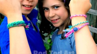 Easy Friendship Bracelets with Cardboard Loom