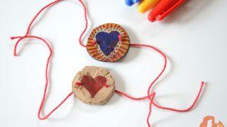 DIY crafts: wood slice bracelet for besties
