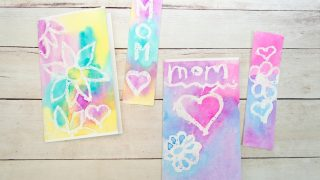 Mother's Day Bookmark & Card Watercolor Project for Kids