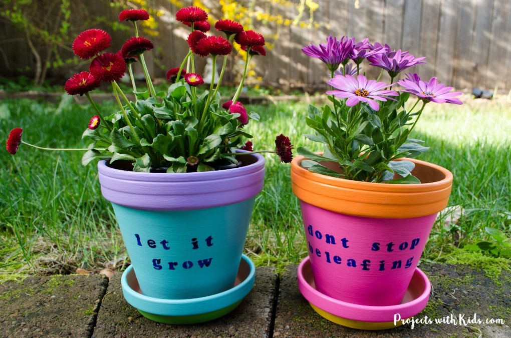 Easy Diy Painted Flower Pots For Kids To Make Projects With Kids