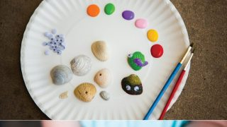 Seashell Painting for Preschoolers - STEAM Activity - Sixth Bloom- Lifestyle, Photography & Family Blog