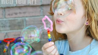 DIY Shape Bubble Wands with Cookie Cutters