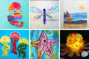Collection of summer arts and crafts projects.