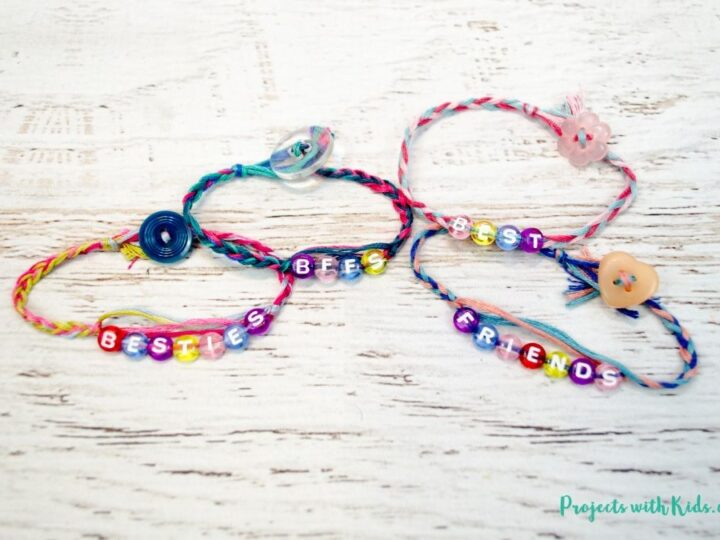 7446a04b5c81e Easy Braided Friendship Bracelets with Letter Beads | Projects with Kids