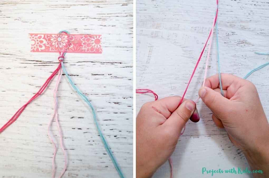 détaillant en ligne sélectionner pour authentique jolie et colorée Easy Braided Friendship Bracelets with Letter Beads ...