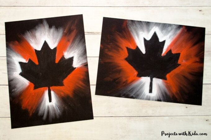 Canada Day chalk pastel art