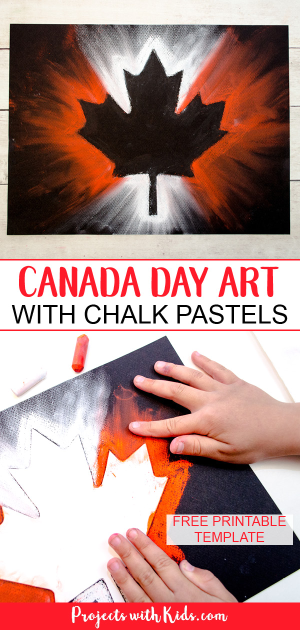 Canada Day pastel art Pinterest image 1