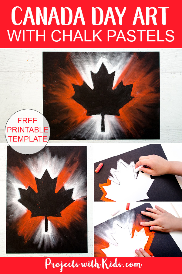 Canada Day pastel art pinterest image 2