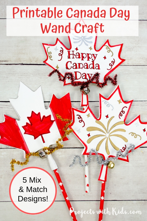 Pinterest image of Canada day paper craft