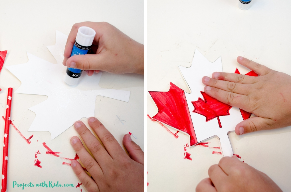 Glueing Canada Day project together