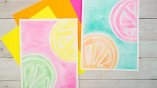 Bright & Fun Watercolor Resist Citrus Painting for Kids