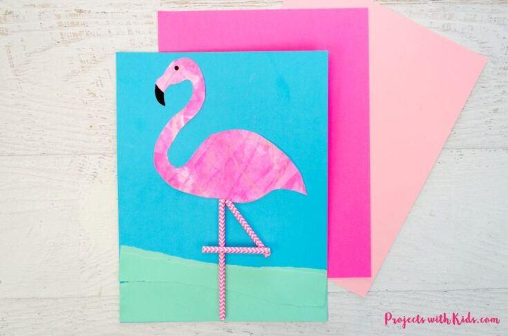 Unique Flamingo Scrape Painting with Printable