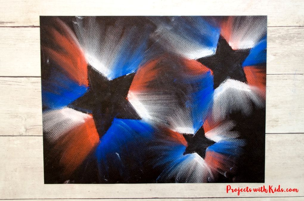4th of July chalk pastel art