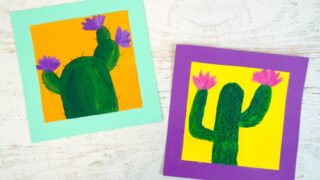 Cute and Cheerful Cactus Painting for Kids